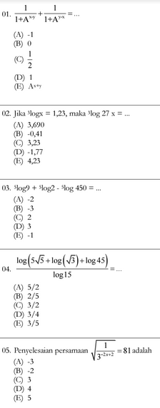 Mid Semester Ganjil Mapel Matematika  Kelas  Download Soal Siap UTS Matematika Kelas X Sekolah Menengan Atas Semester 1 Terbaru