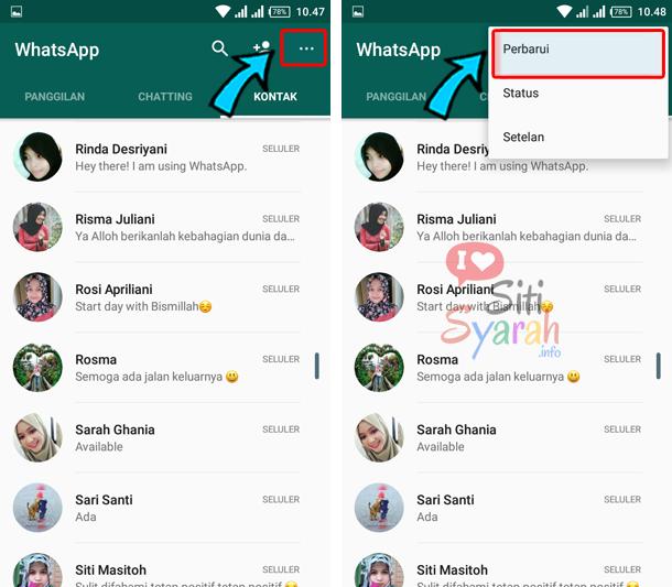 kontak whatsapp tidak otomatis muncul di android
