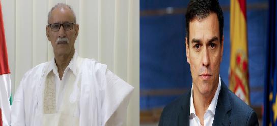 Brahim Ghali felicita a Pedro Sánchez y le expresa su esperanza de que pueda contribuir, en la gestión del conflicto del Sahara Occidental