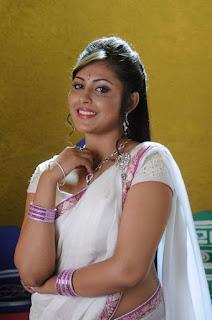 Madhu Shalini Stills in White Half Saree ~ Celebs Next