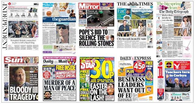 front pages 26-03-16
