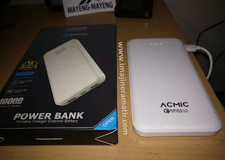 Menguji Kapasitas Power Bank ACMIC C10PRO