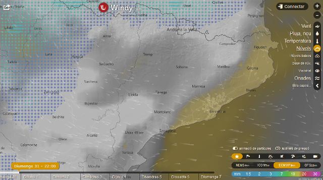Previsió del cel pel 31 de desembre de 2017
