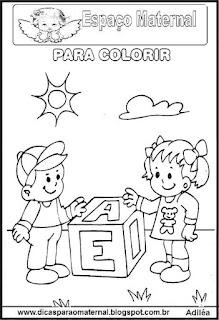 Desenho para dia da escola