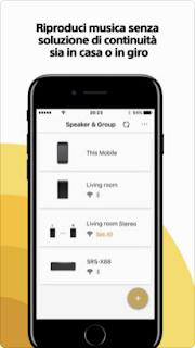 Sony | Music Center (SongPal) l'app si aggiorna alla vers 5.13.0
