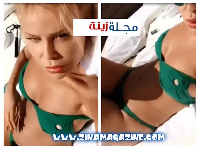 رولا سعد تستعرض أنوثتها بالمايوة عبر سناب شات