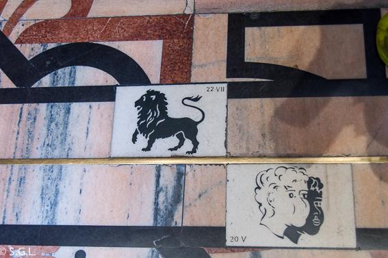 Simbolo del zodiaco en catedral de Milan