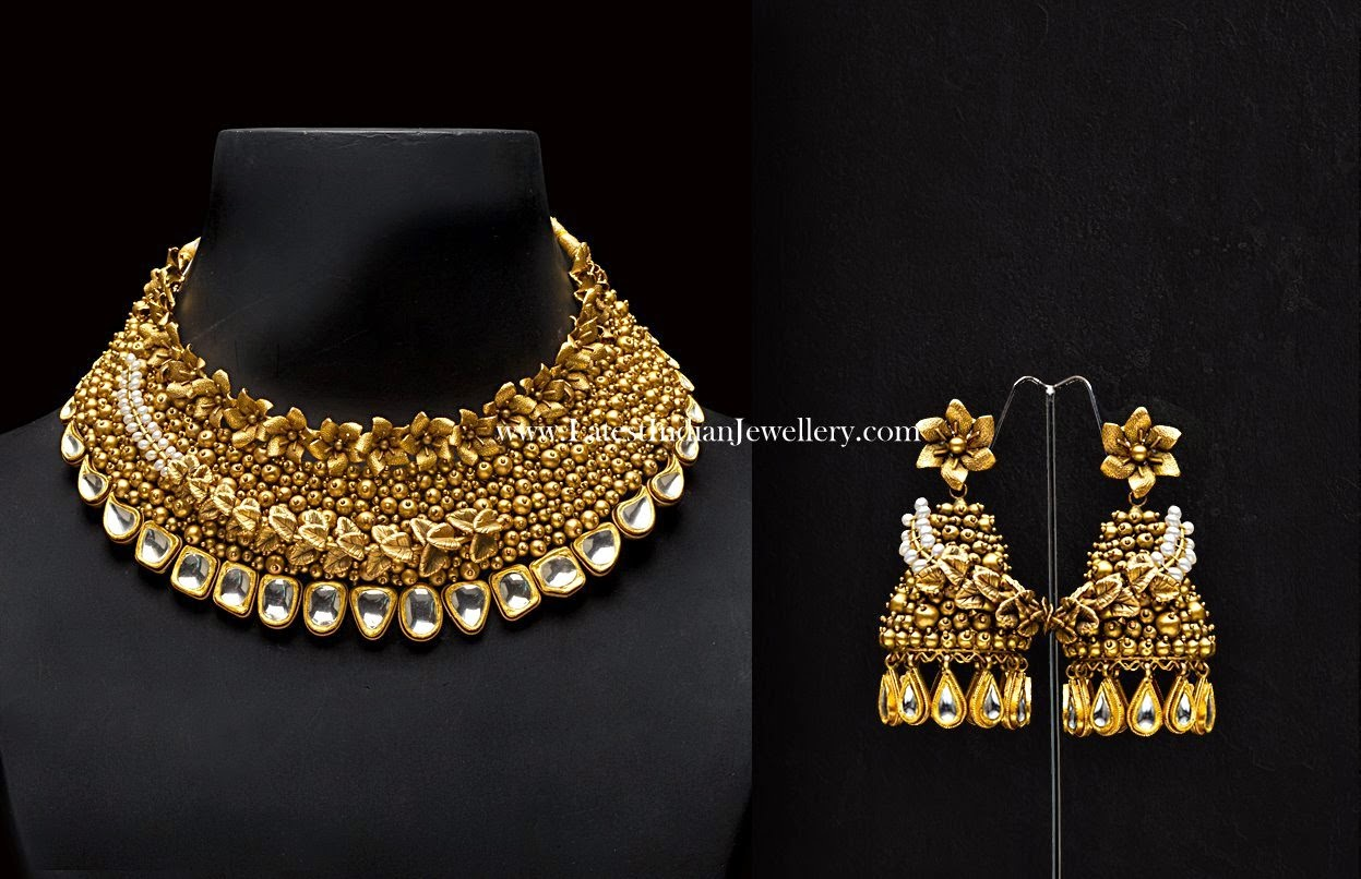Grand Bridal Necklace and Jhumkas