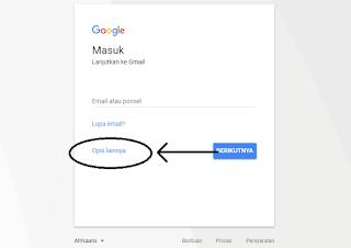 opsi lainnya cara membuat gmail