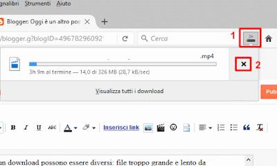 Come interrompere un download su Firefox