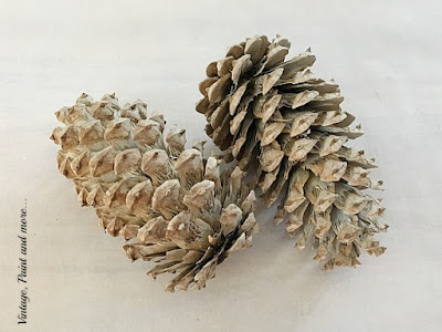 Vintage, Paint and more... pinecones used to make twine wrapped acorns