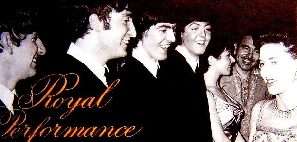 Luis Alberto del Parana Junto a los Beatles y la Reina de Inglaterra