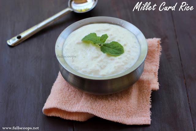 Millet Curd Rice