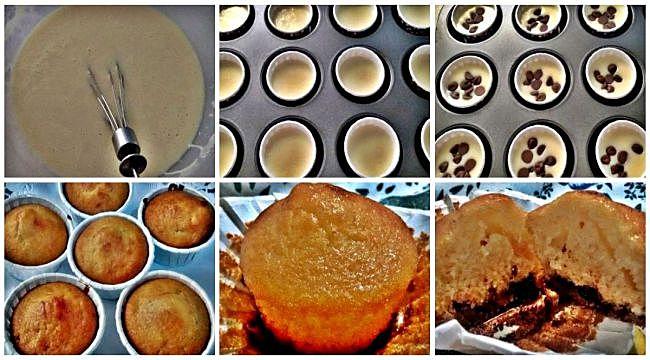 Preparación de las magdalenas caseras sin gluten