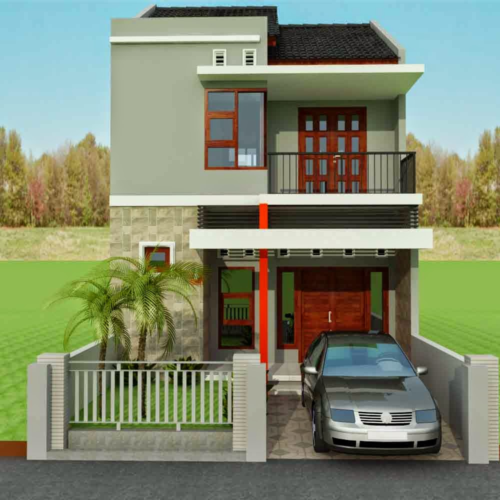 Denah Rumah Minimalis 2 Lantai Ukuran 6x15 Desain Rumah Minimalis