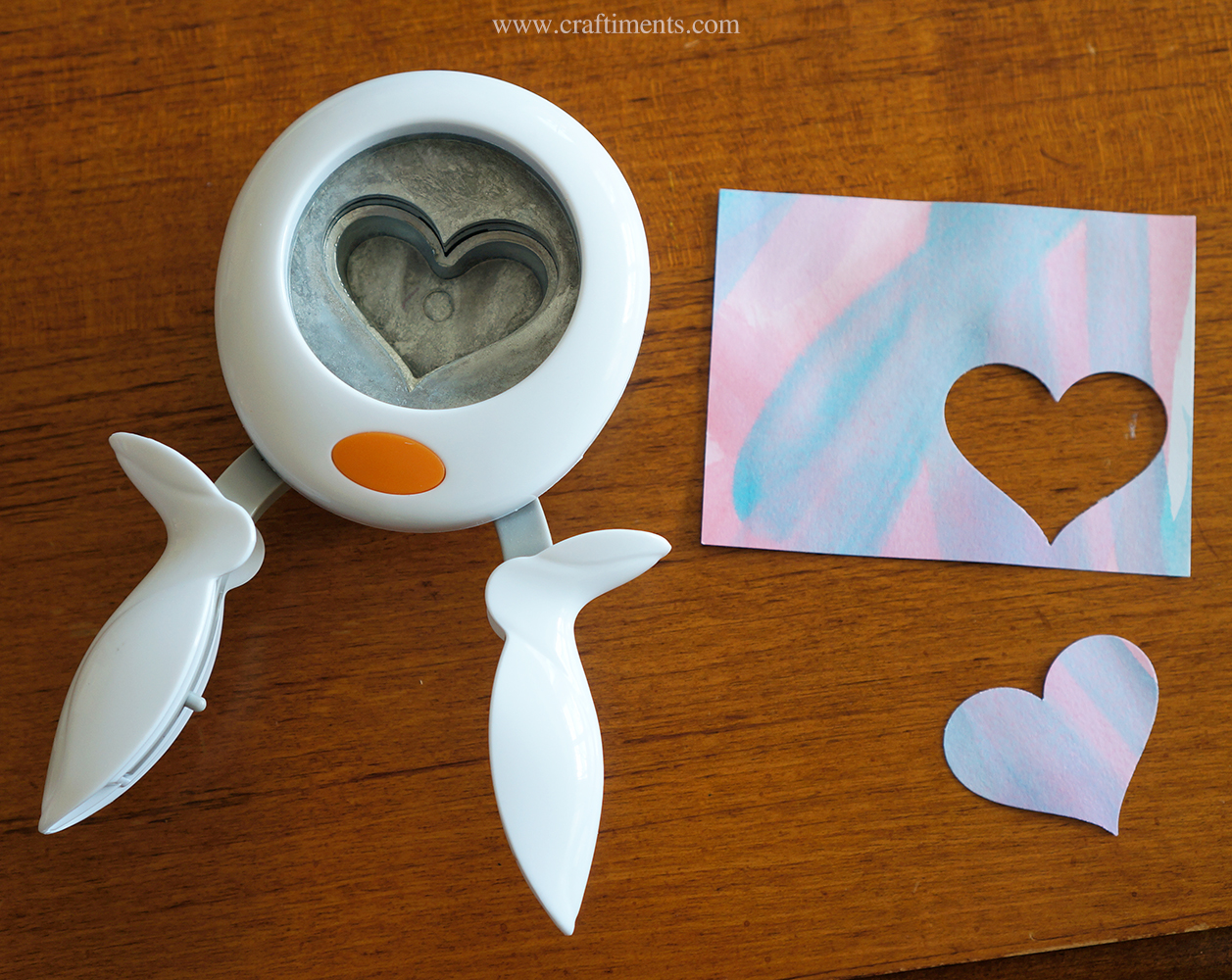 Use heart shaped paper punch