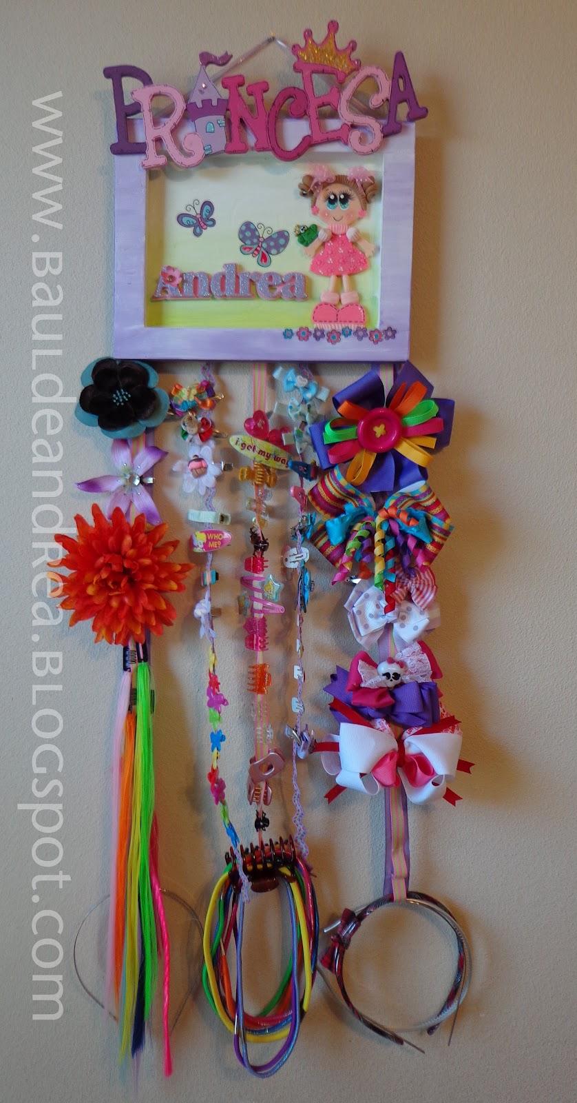 Hair bow holder portamo os el ba l de andrea - Ideas para colgar diademas ...