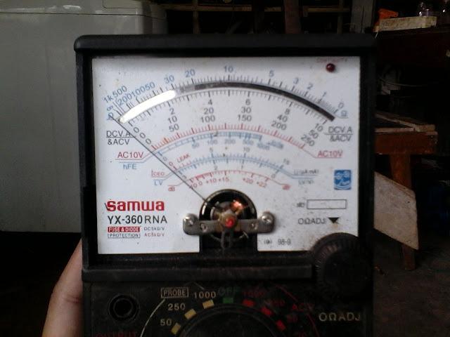 AVO meter cara mengukur dan menghitung hasil pengukuran arus, tegangan, tahanan dengan akurat