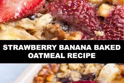 #The #World's #most #delicious #Strawberry #Banana #Baked #Oatmeal #Recipe
