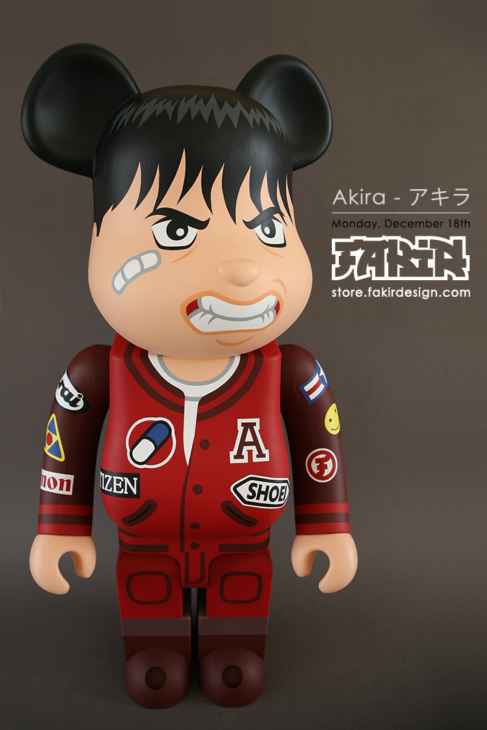 "80fb631a Fakir Design is set to unleash this custom hand-painted 1000% BE@RBRICK  ""AKIRA アキラ"" on store.fakirdesign.com on Monday December 18th at 12pm GMT."