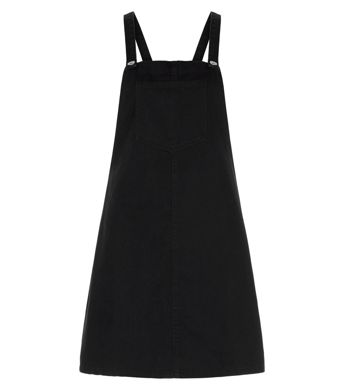 White apron pinafore - New Look Black Dungeree Pinafore