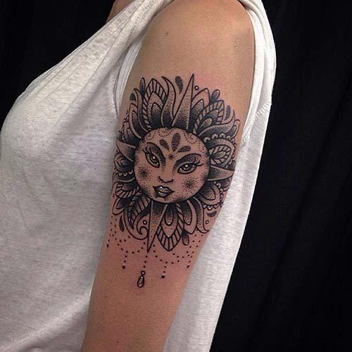 güneş dövmeleri sun tattoos 8