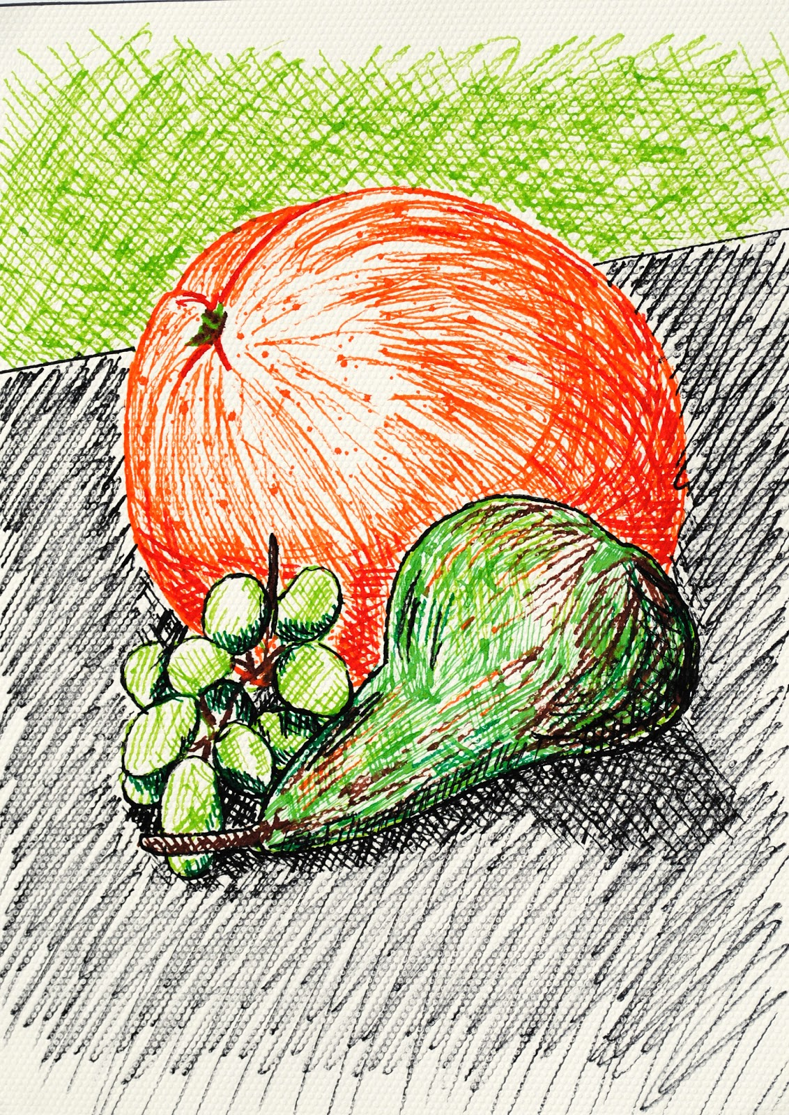 Debbie S Place Drawing Fruit And Vegetables In Colour