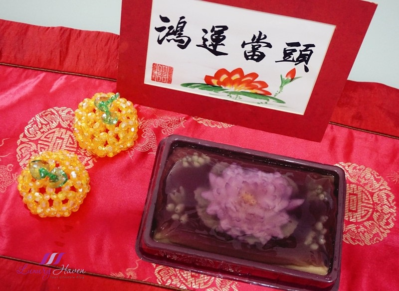 chinese new year food 3d gelatin flowers peony