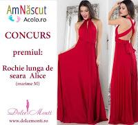 Castiga o superba rochie de seara oferita de Dolce Monti