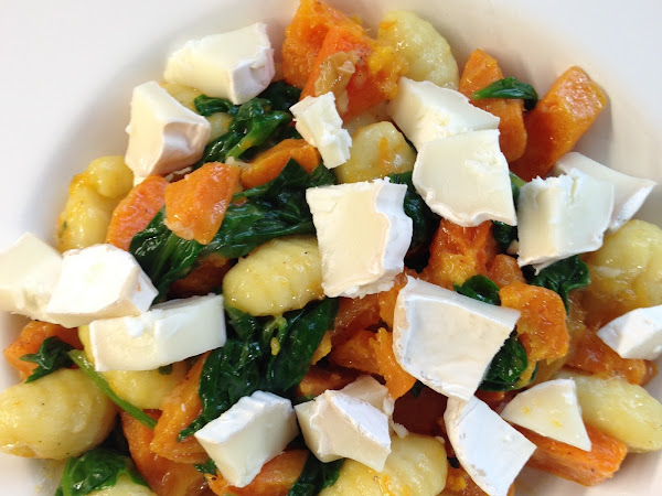 Gnocchi: butternut squash and goat's cheese