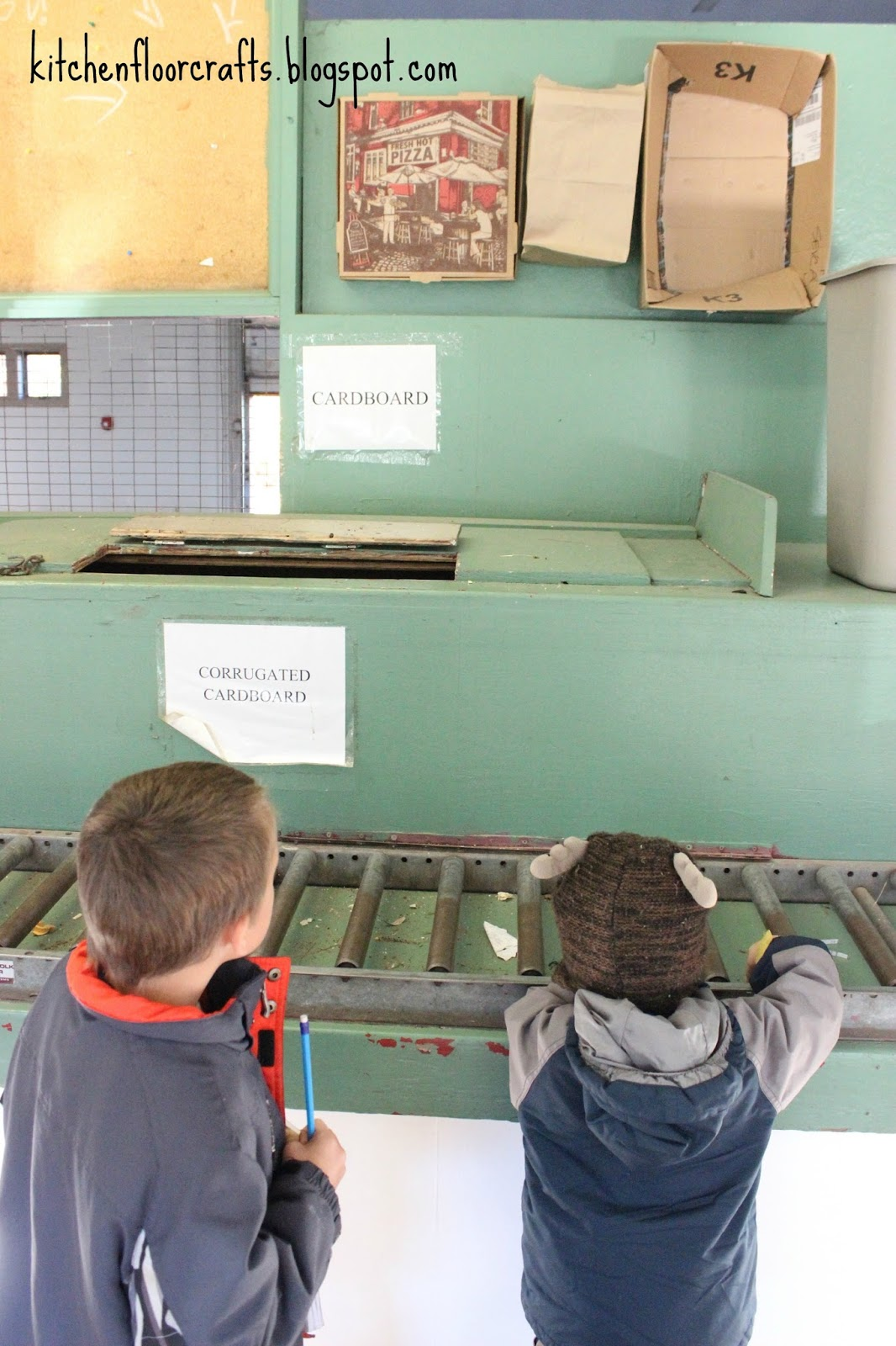 Kitchen Floor Crafts: Exploring A Recycling Center (Learning ...