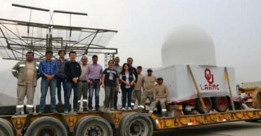 Perú cuenta con primer radar meteorológico de lluvias, informó el Instituto Geofísico del Perú - IGP - www.igp.gob.pe