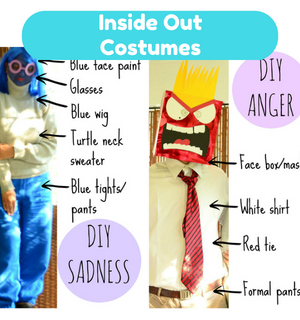 Practical Mom Halloween: DIY Inside Out Costumes