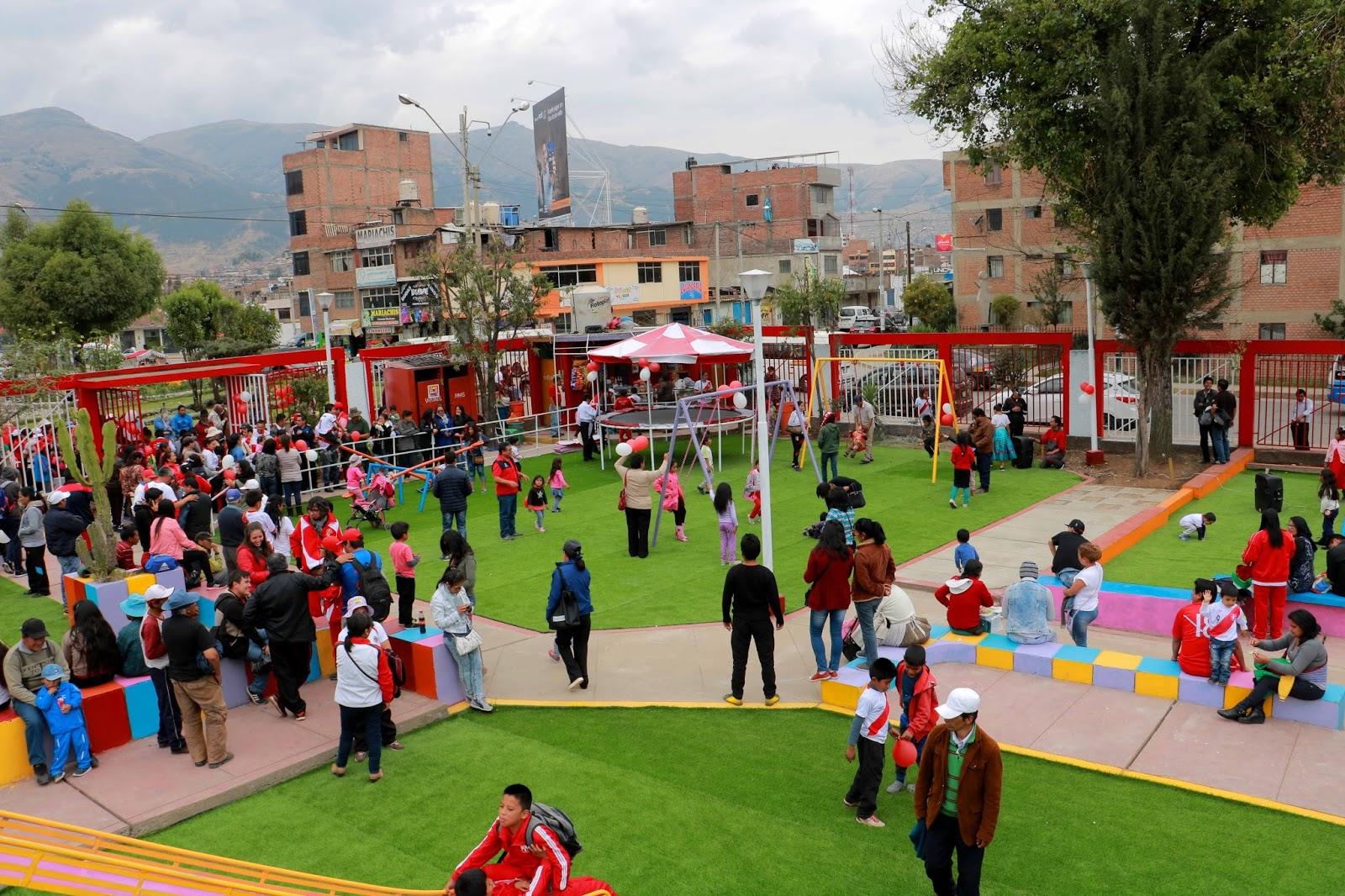 Aldrin Zárate concluye obra de remodelación del Parque Infantil