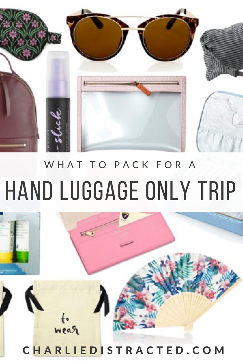 What to pack for a hand luggage only city break