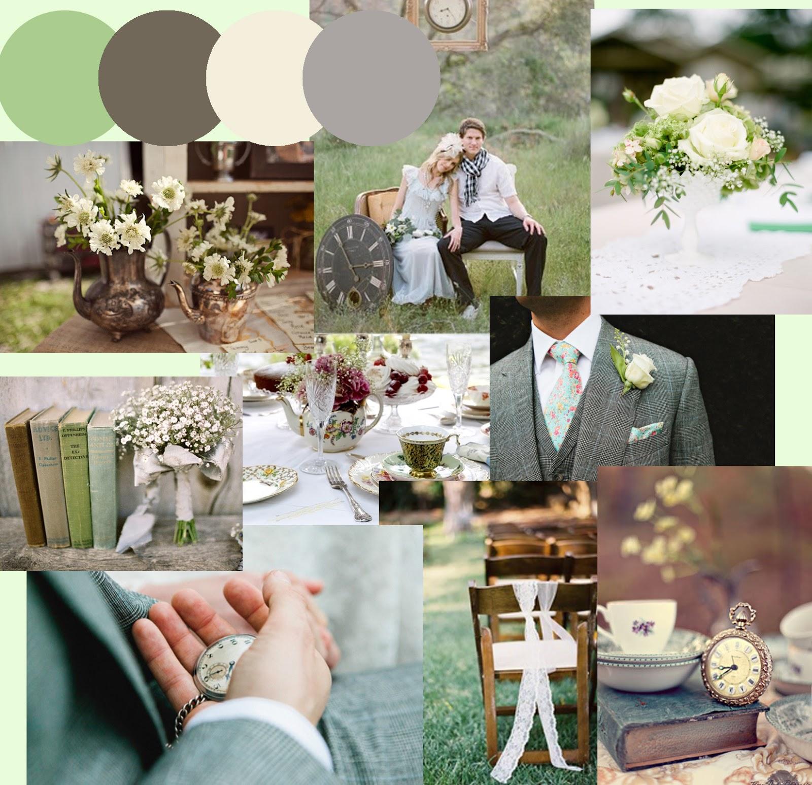 A Pretty Green Wonderland Wedding Theme Stationery