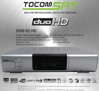 TOCOMSAT DUO HD / DUO HD+ PLUS NOVA ATUALIZAÇÃO V2.034 - 10/09/2016