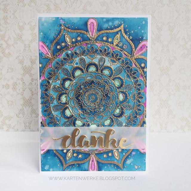 Kartenwerke - Dankekarte mit dem Mandalastempel von Create a Smile