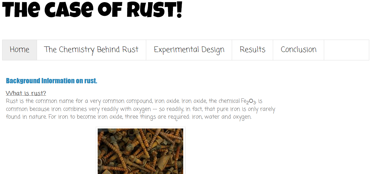 The Case of Rust: Background information on rust