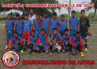 SOBRADO:Torneio Sub-13 tem como Campeão o Nacionalzinho de Antas do Sono,Veja; Fotos!