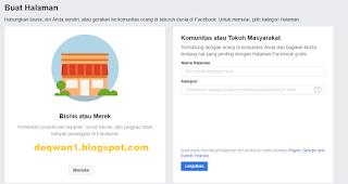 cara membuat halaman facebook terbaru