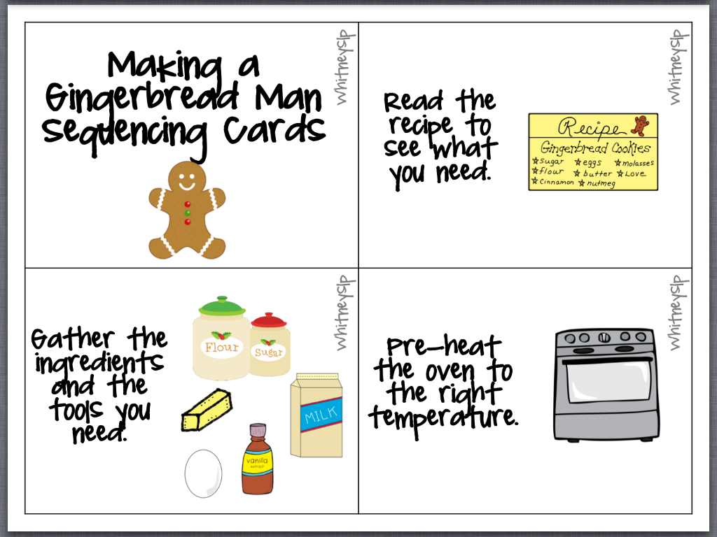 11 Sequencing Cards For Making A Gingerbread Boy Are