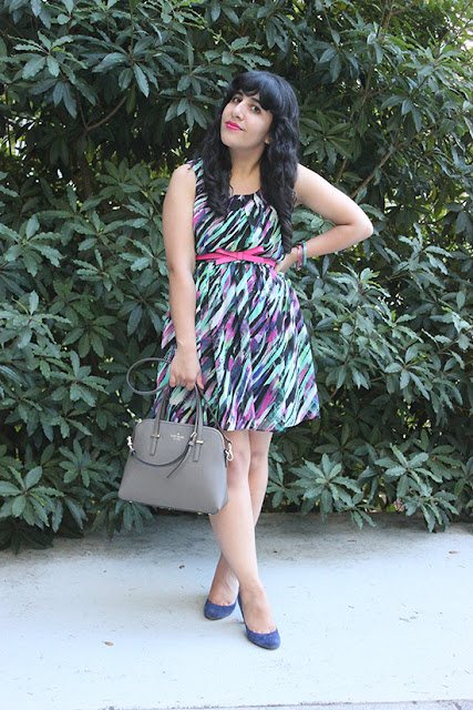 Bold Print Dress Kate Spade Accessories Blogger Style
