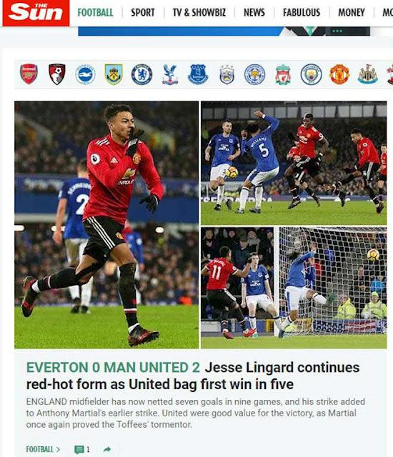 """MU hạ Everton: Báo chí Anh mừng như """"bắt được vàng"""", khen Mourinho hết lời 6"""