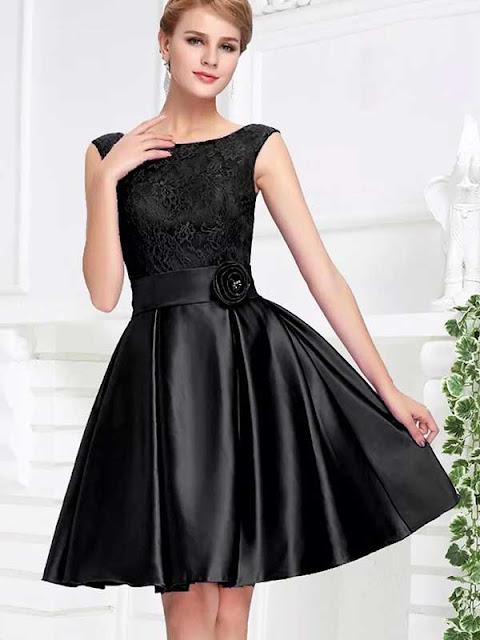 Flared Silk Dress