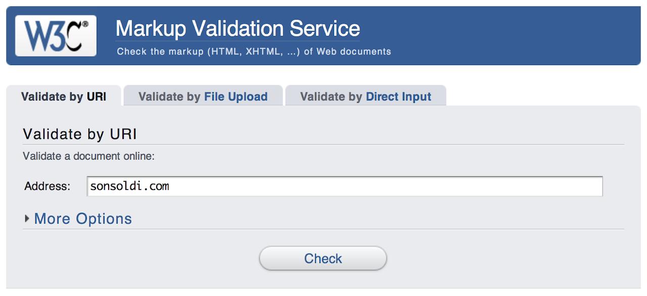 Validazione dell'HTML di un sito web
