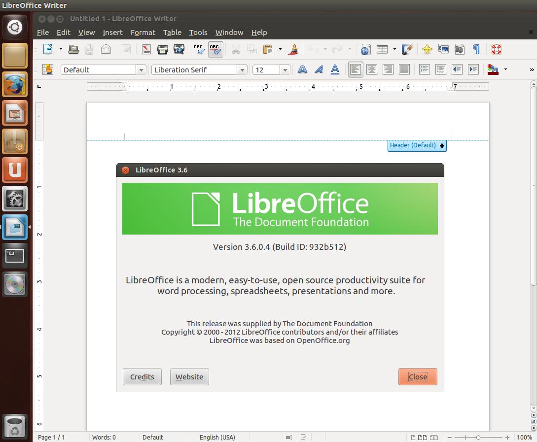 Install LibreOffice 3 6 (Final) From PPA In Ubuntu 12 10