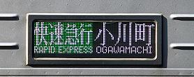 緑の快速急行 小川町行き 10030系R側面