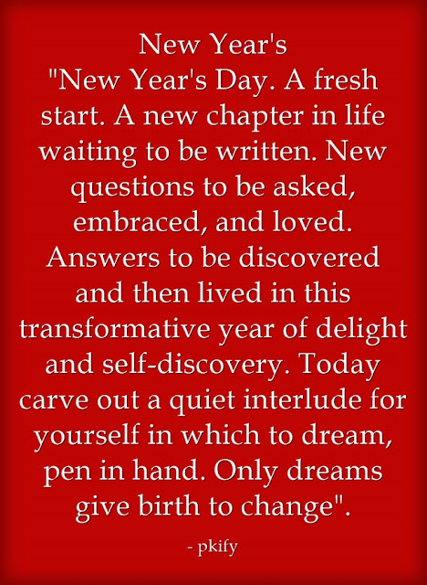 New Year's Day A Fresh Start A New Chapter in Life Waiting To Be Written