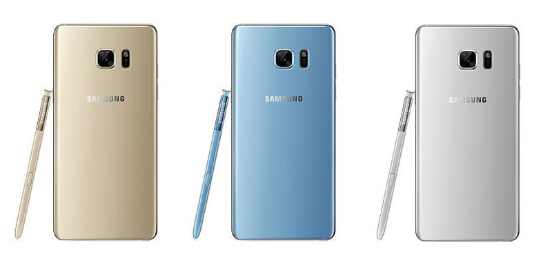 Back of Samsung Galaxy Note 7